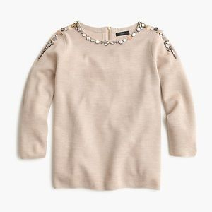 JCREW jeweled crewneck sweater